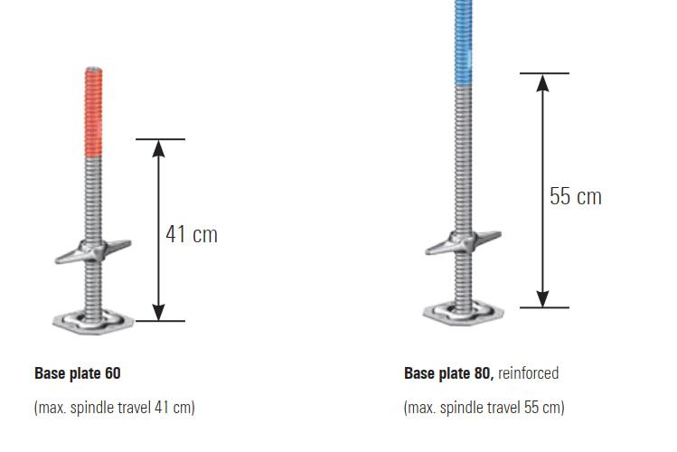 Pastolių domkratai / reguliuojamos kojos