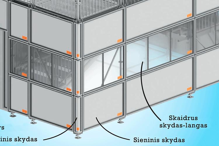 Layher apsauginiai skydai nuo triukšmo ir blogo oro sąlygų